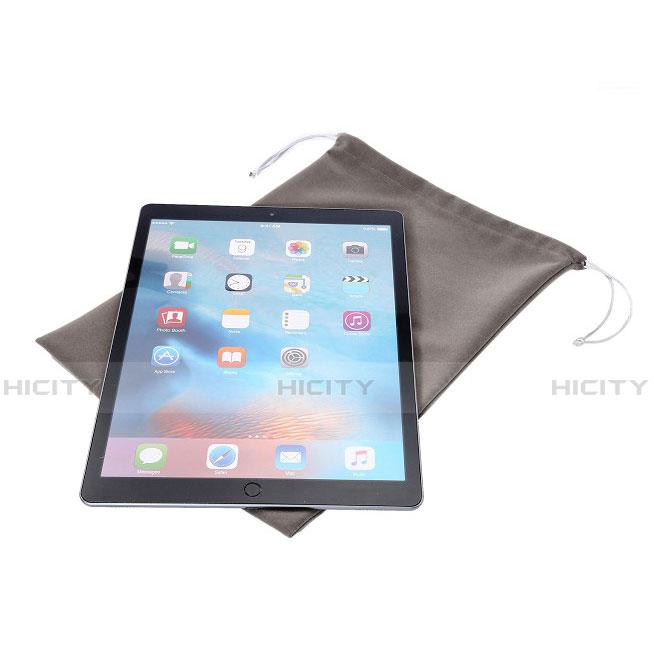 Sacchetto in Velluto Cover Marsupio Tasca per Apple New iPad Pro 9.7 (2017) Grigio