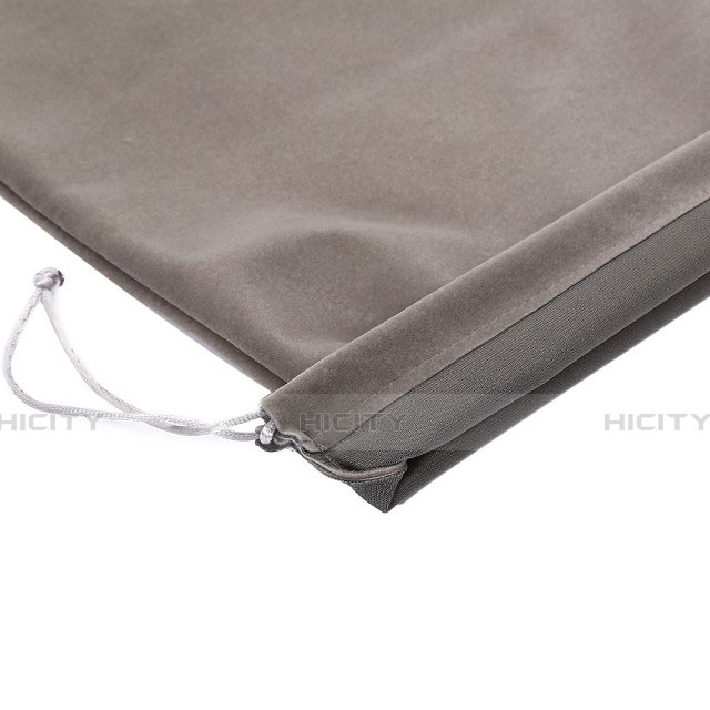 Sacchetto in Velluto Cover Marsupio Tasca per Asus ZenPad C 7.0 Z170CG Grigio