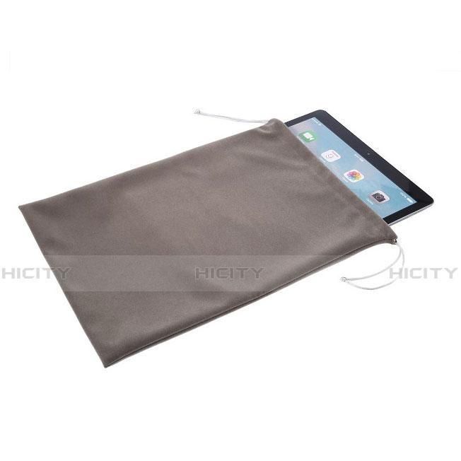 Sacchetto in Velluto Cover Marsupio Tasca per Microsoft Surface Pro 4 Grigio