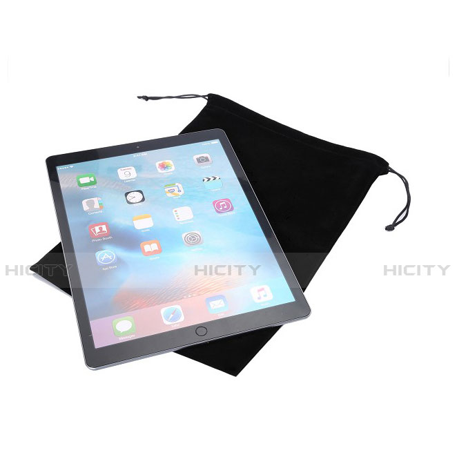 Sacchetto in Velluto Custodia Marsupio Tasca per Apple iPad 2 Nero