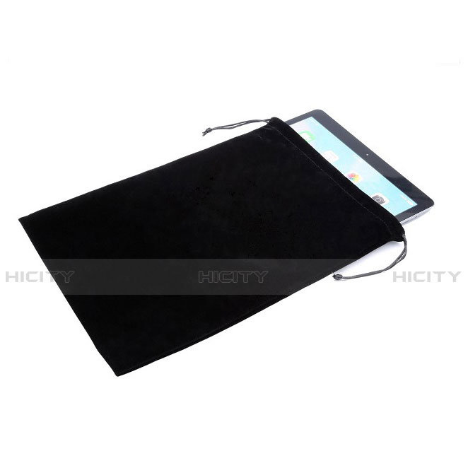 Sacchetto in Velluto Custodia Marsupio Tasca per Apple iPad Air 2 Nero