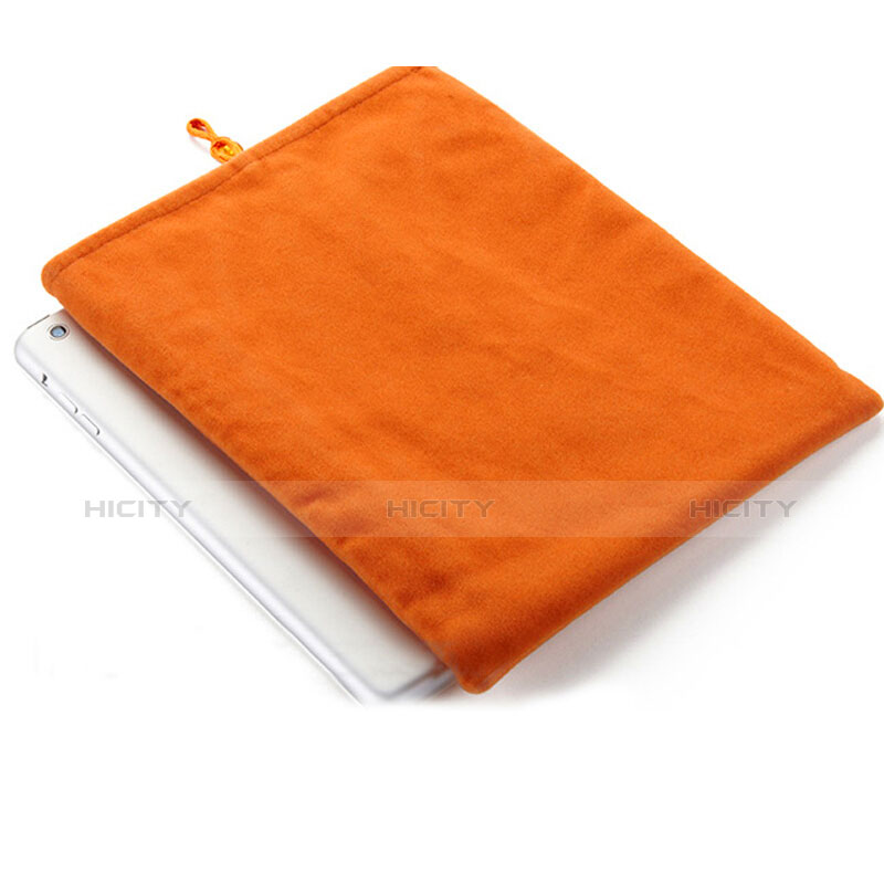 Sacchetto in Velluto Custodia Tasca Marsupio per Apple iPad 2 Arancione