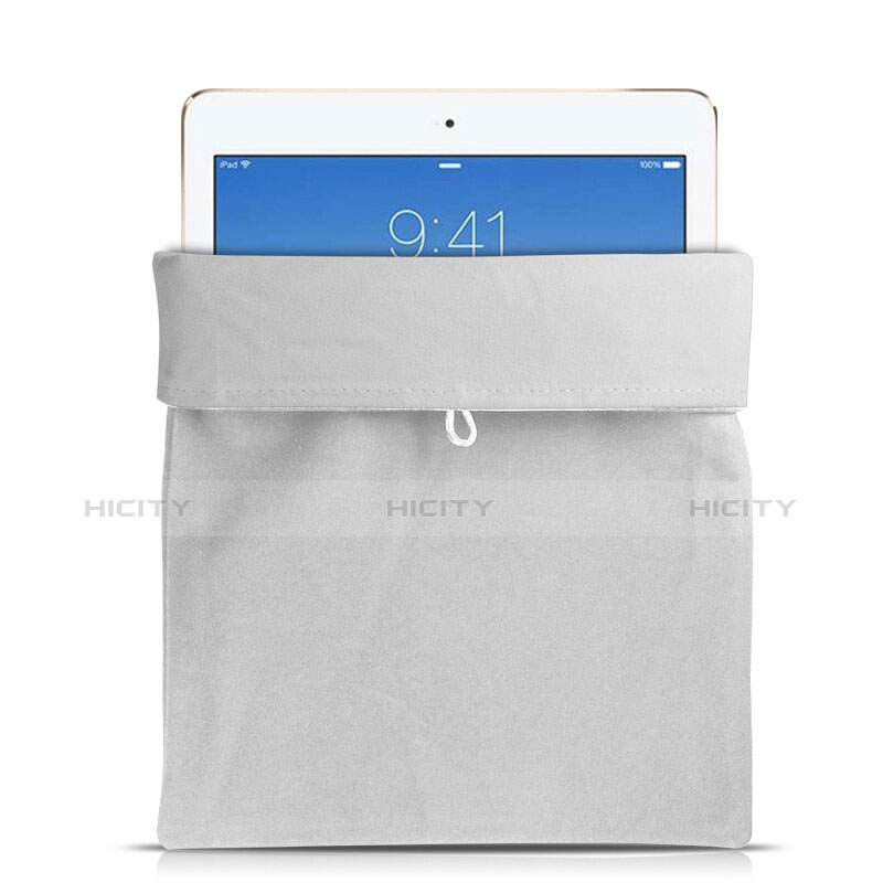 Sacchetto in Velluto Custodia Tasca Marsupio per Apple iPad 2 Bianco
