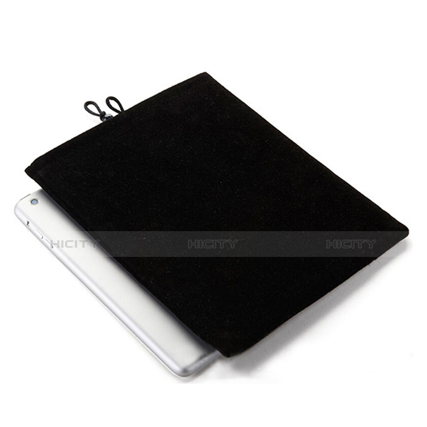 Sacchetto in Velluto Custodia Tasca Marsupio per Apple iPad 2 Nero