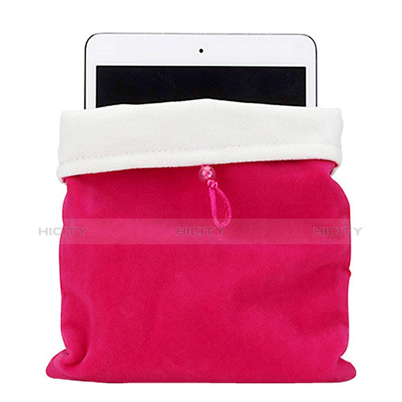 Sacchetto in Velluto Custodia Tasca Marsupio per Apple iPad 3 Rosa Caldo
