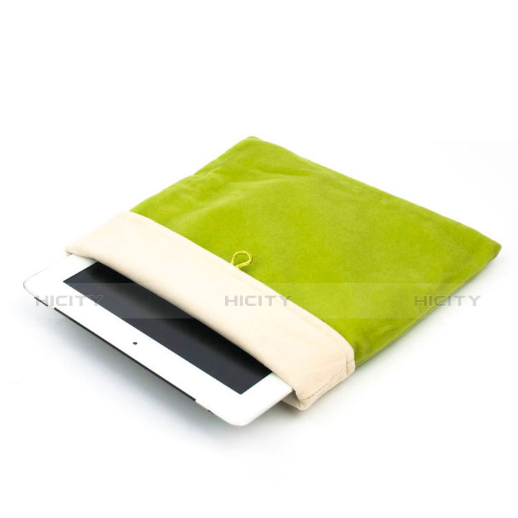 Sacchetto in Velluto Custodia Tasca Marsupio per Apple iPad 3 Verde