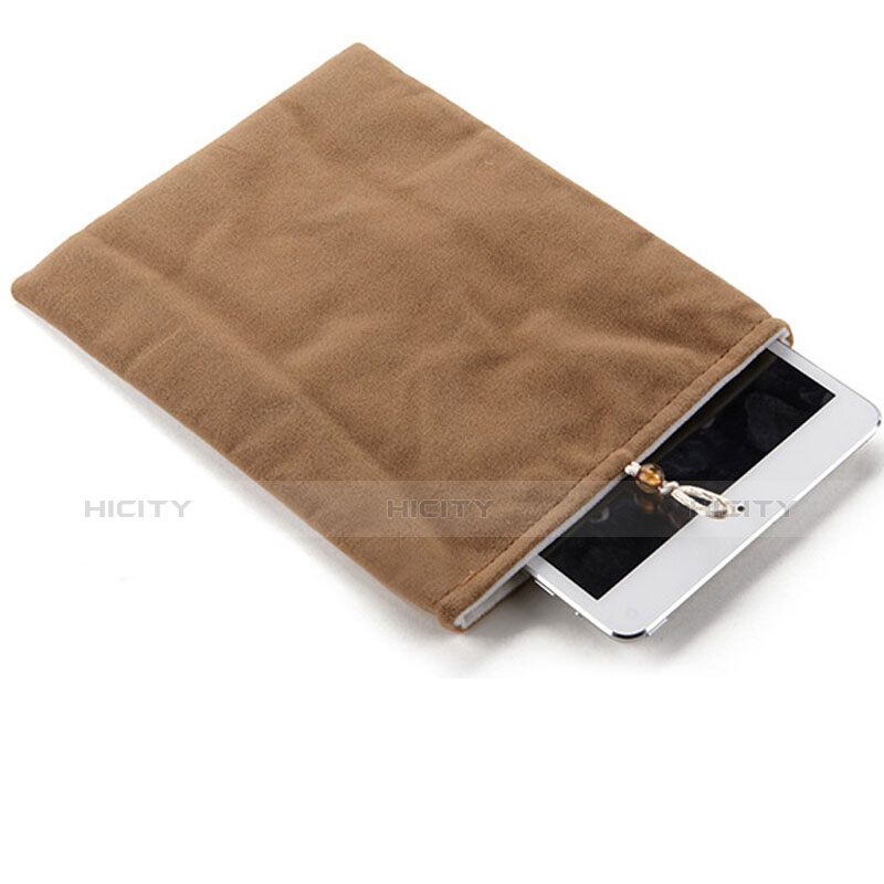 Sacchetto in Velluto Custodia Tasca Marsupio per Apple iPad 4 Marrone