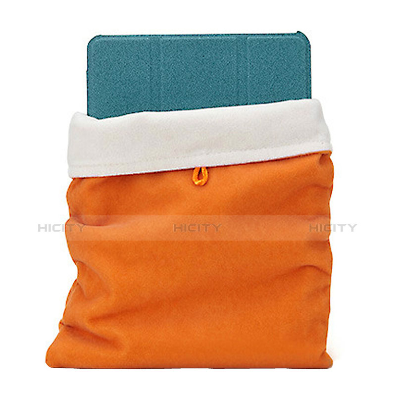 Sacchetto in Velluto Custodia Tasca Marsupio per Apple iPad Air 2 Arancione