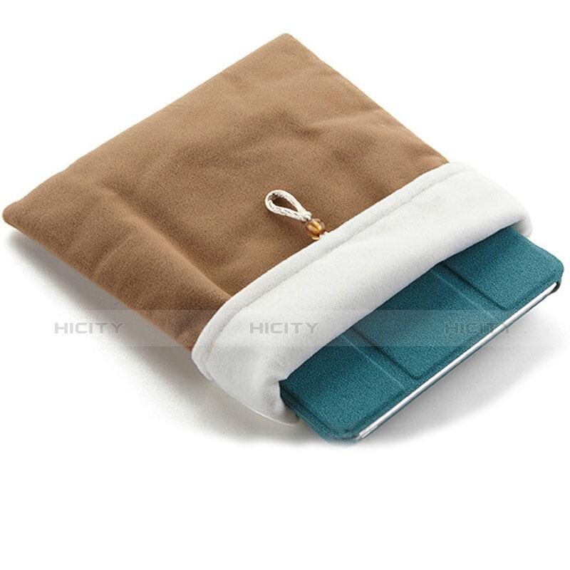 Sacchetto in Velluto Custodia Tasca Marsupio per Apple iPad Air 2 Marrone