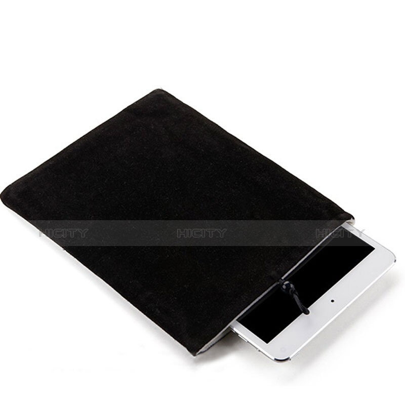 Sacchetto in Velluto Custodia Tasca Marsupio per Apple iPad Air 2 Nero