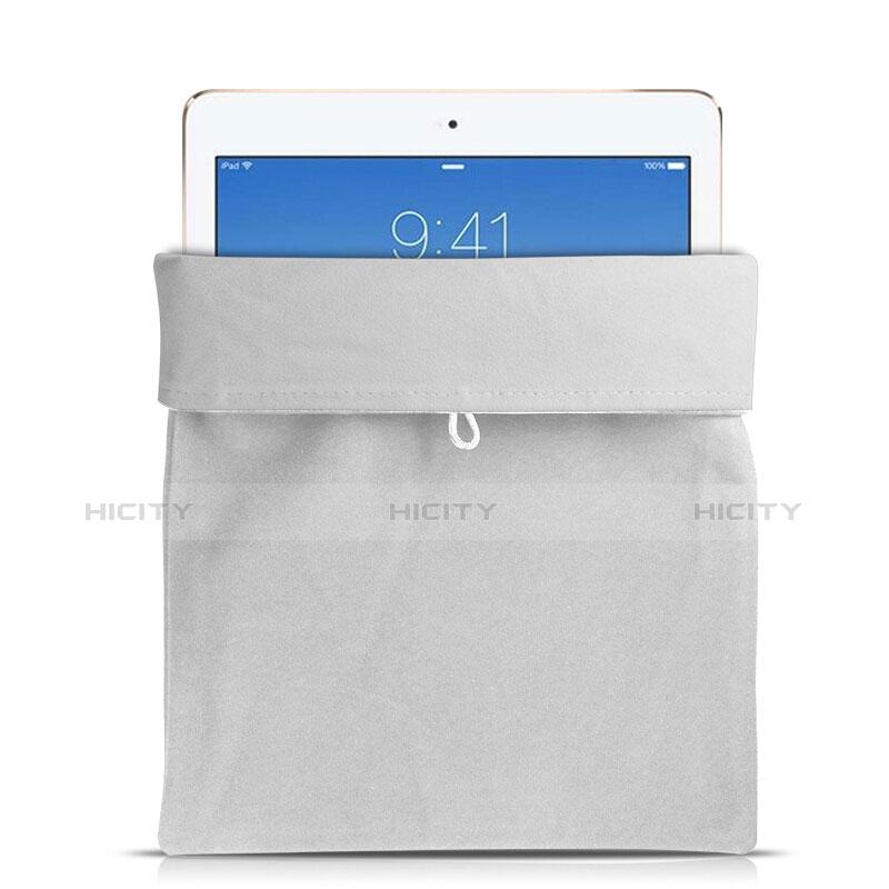 Sacchetto in Velluto Custodia Tasca Marsupio per Apple iPad Mini 2 Bianco