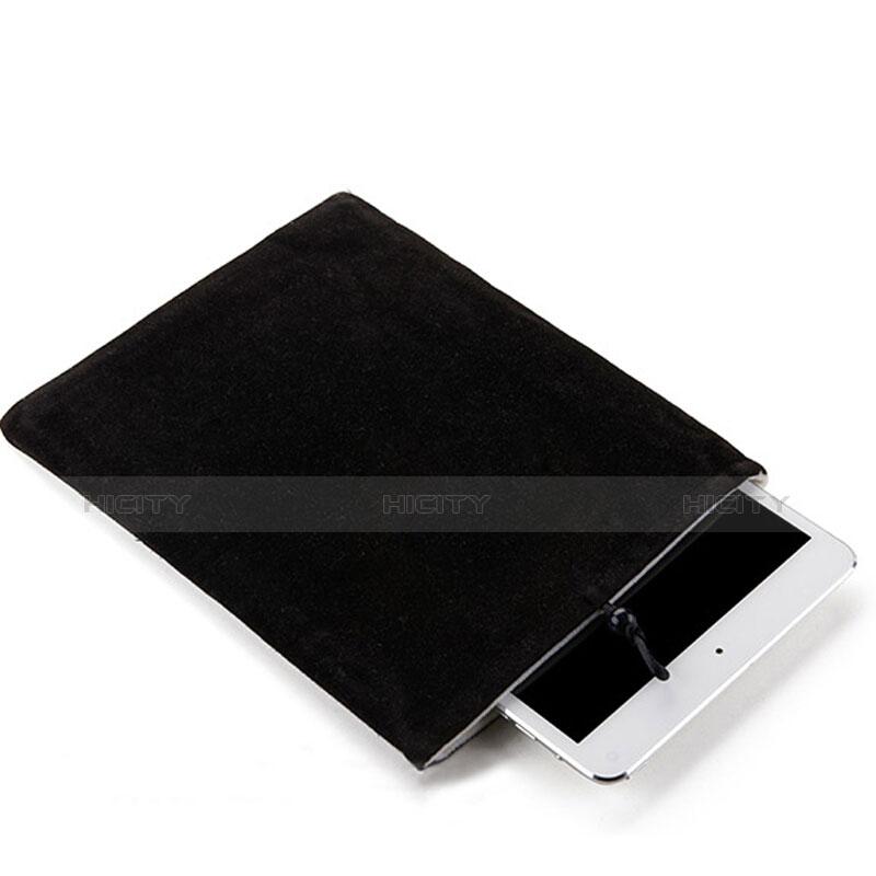 Sacchetto in Velluto Custodia Tasca Marsupio per Apple iPad Mini 3 Nero