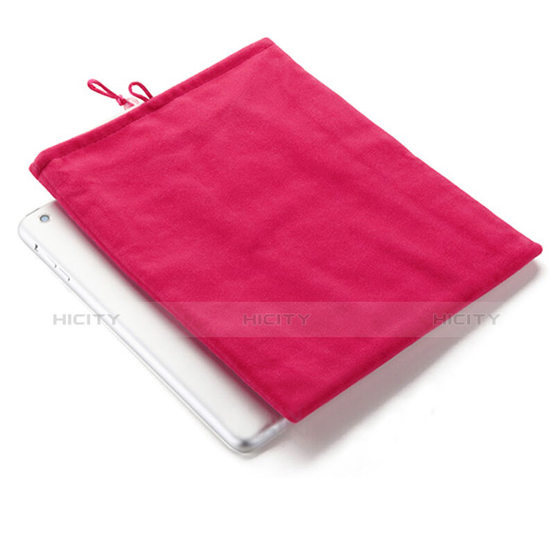 Sacchetto in Velluto Custodia Tasca Marsupio per Apple iPad Mini 3 Rosa Caldo