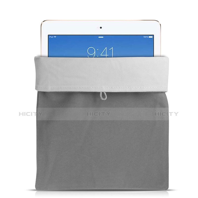 Sacchetto in Velluto Custodia Tasca Marsupio per Apple iPad Mini Grigio