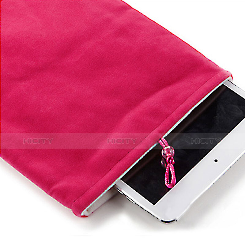 Sacchetto in Velluto Custodia Tasca Marsupio per Apple iPad Mini Rosa Caldo