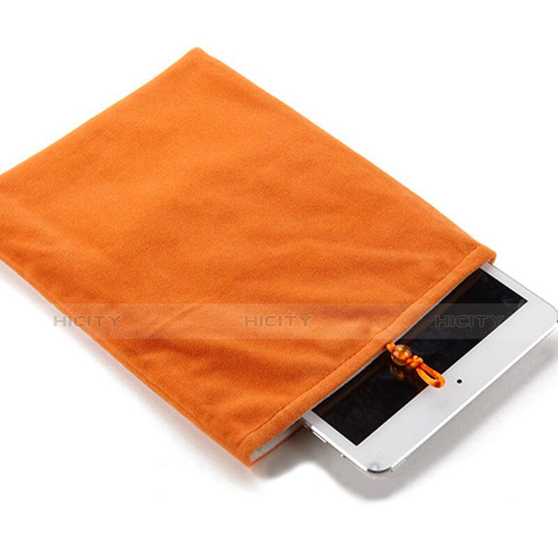 Sacchetto in Velluto Custodia Tasca Marsupio per Apple iPad Pro 12.9 (2017) Arancione