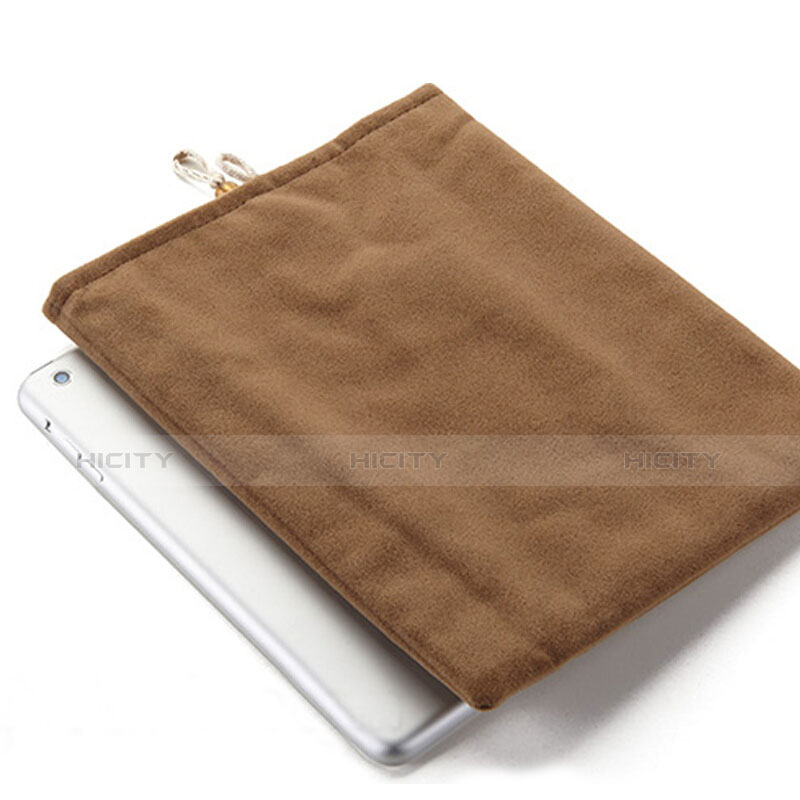 Sacchetto in Velluto Custodia Tasca Marsupio per Apple New iPad Pro 9.7 (2017) Marrone