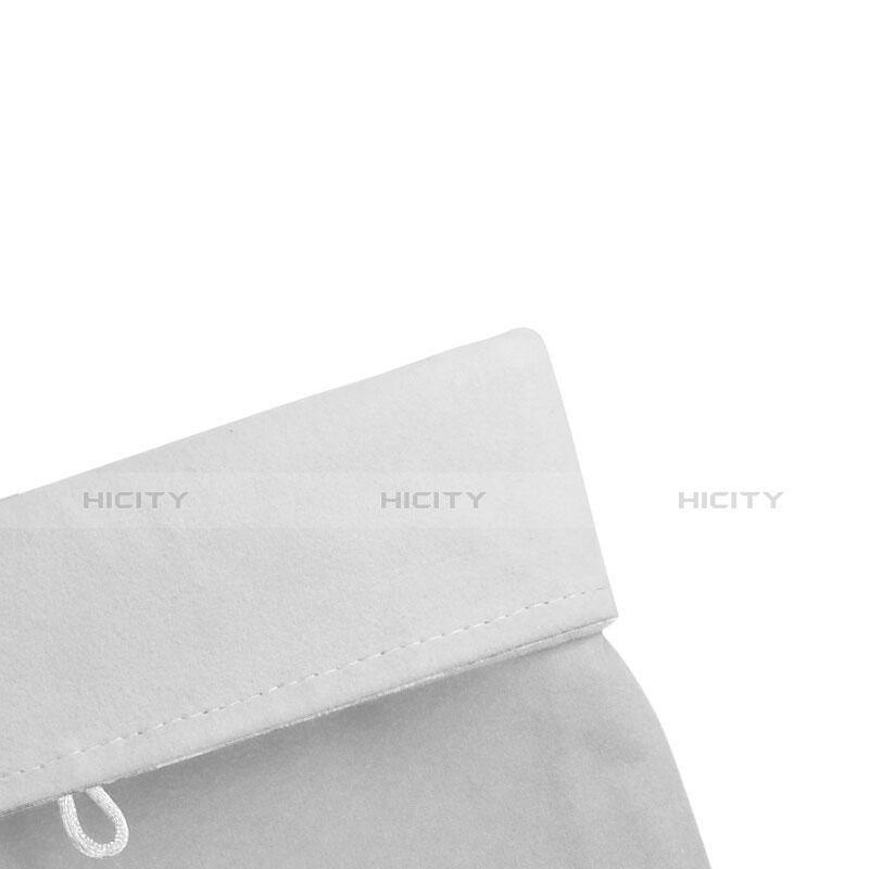 Sacchetto in Velluto Custodia Tasca Marsupio per Asus ZenPad C 7.0 Z170CG Bianco