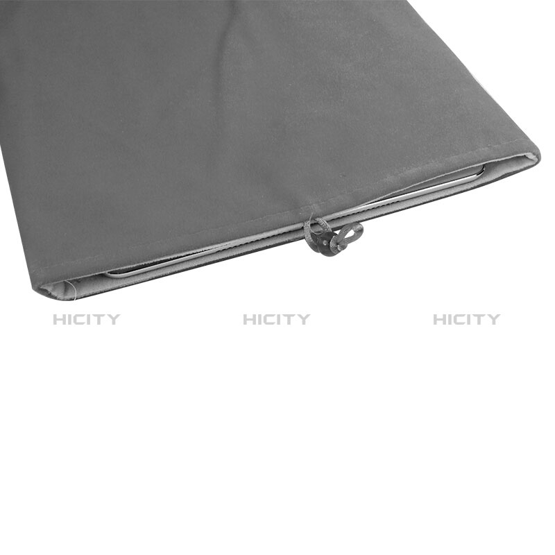 Sacchetto in Velluto Custodia Tasca Marsupio per Huawei MatePad 10.4 Grigio