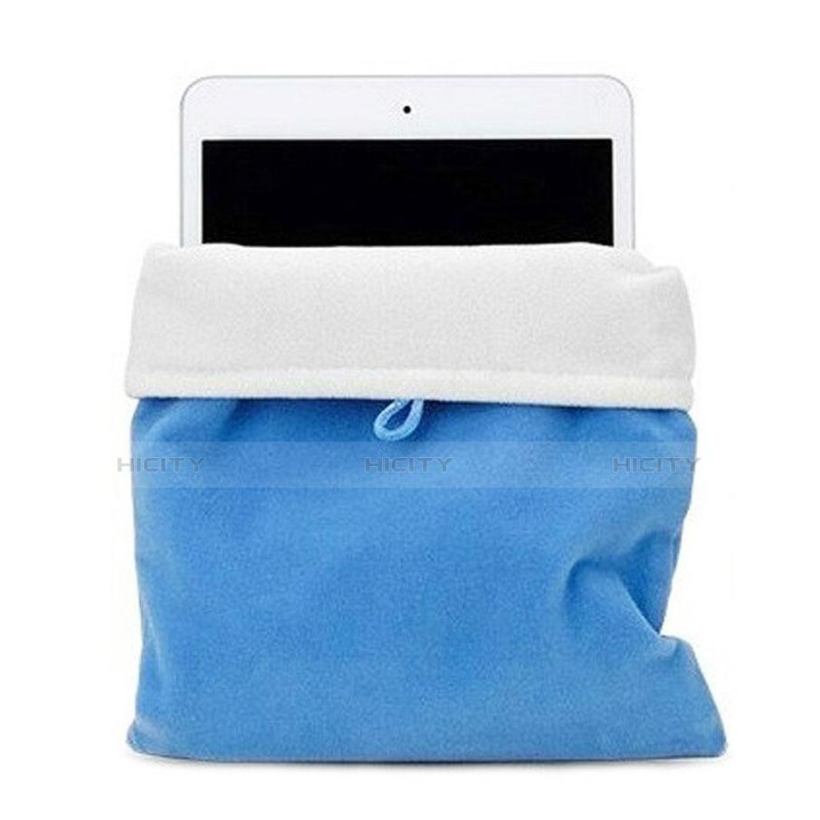 Sacchetto in Velluto Custodia Tasca Marsupio per Microsoft Surface Pro 3 Cielo Blu