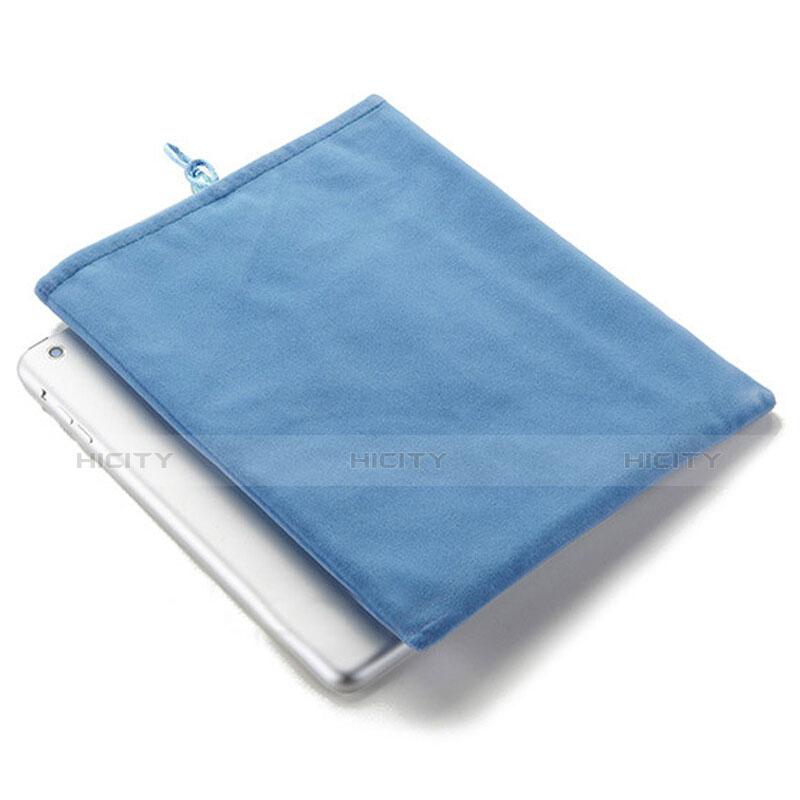 Sacchetto in Velluto Custodia Tasca Marsupio per Microsoft Surface Pro 4 Cielo Blu