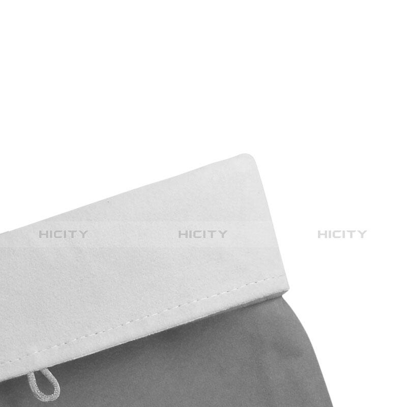 Sacchetto in Velluto Custodia Tasca Marsupio per Microsoft Surface Pro 4 Grigio