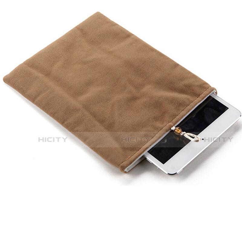 Sacchetto in Velluto Custodia Tasca Marsupio per Samsung Galaxy Tab S2 9.7 SM-T810 SM-T815 Marrone