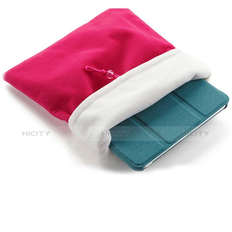 Sacchetto in Velluto Custodia Tasca Marsupio per Xiaomi Mi Pad 3 Rosa Caldo