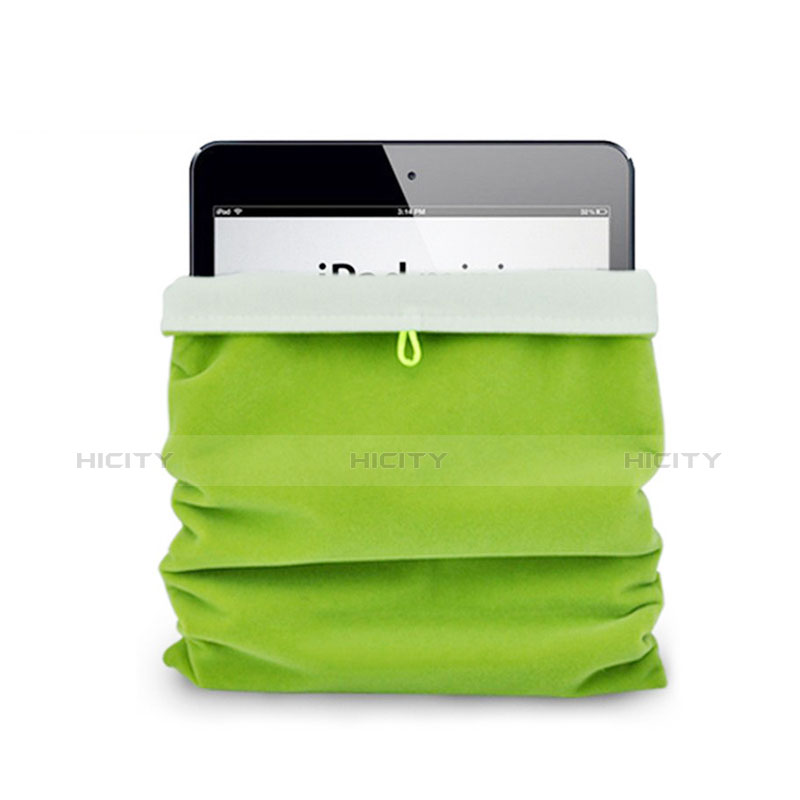 Sacchetto in Velluto Custodia Tasca Marsupio per Xiaomi Mi Pad 3 Verde