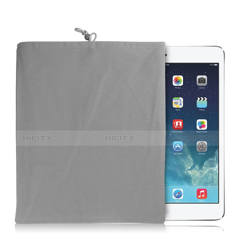Sacchetto in Velluto Custodia Tasca Marsupio per Xiaomi Mi Pad 4 Grigio