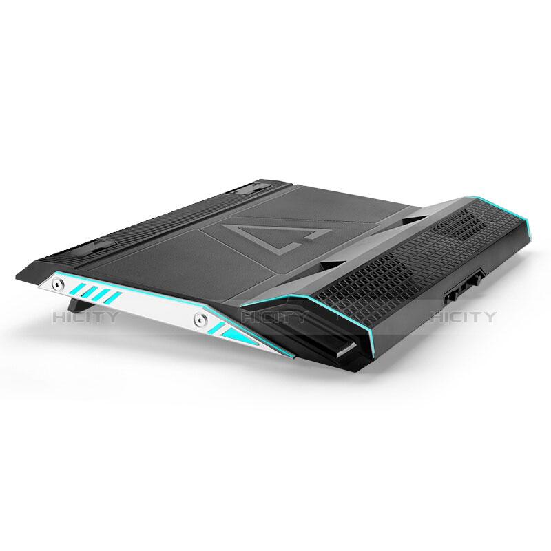 Supporto per Latpop Sostegnotile Notebook Ventola Raffreddamiento Stand USB Dissipatore Da 9 a 17 Pollici Universale L01 per Apple MacBook Pro 13 pollici Nero