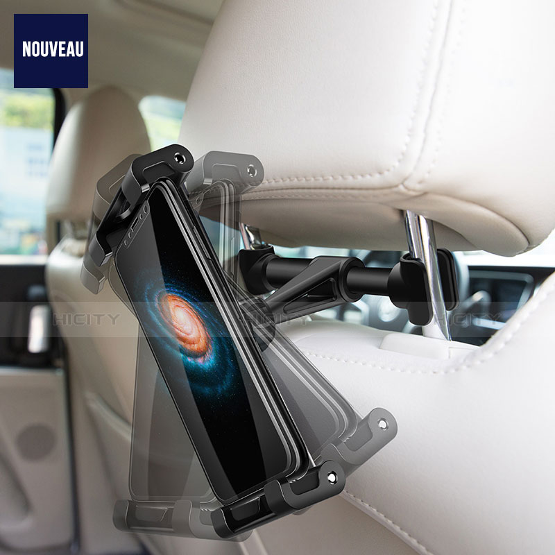 Supporto Sostegno Auto Sedile Posteriore Supporto Tablet PC Universale B02 per Xiaomi Mi Pad Nero