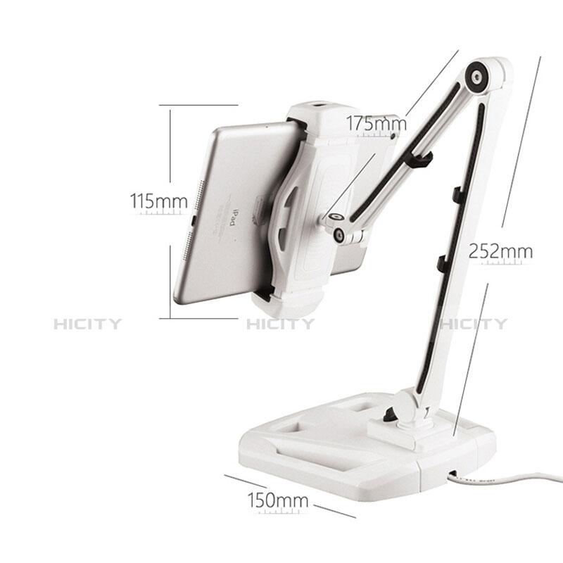 Supporto Tablet PC Flessibile Sostegno Tablet Universale H07 per Xiaomi Mi Pad Bianco