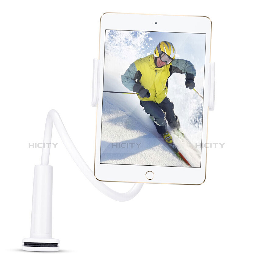 Supporto Tablet PC Flessibile Sostegno Tablet Universale T38 per Apple iPad 3 Bianco
