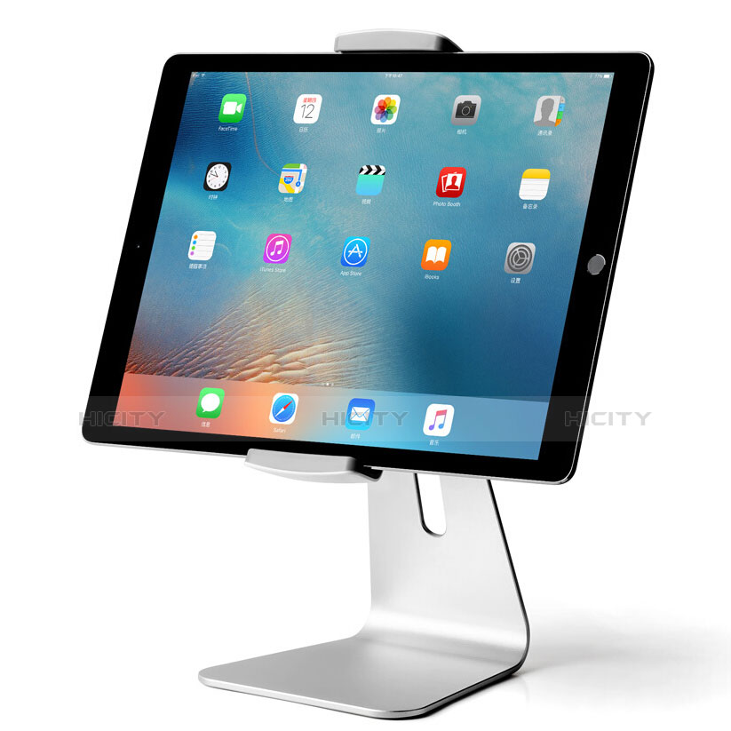 Supporto Tablet PC Sostegno Tablet Universale T24 per Apple iPad 3 Argento