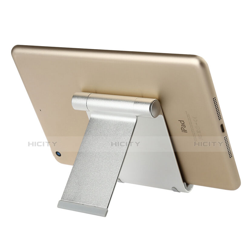 Supporto Tablet PC Sostegno Tablet Universale T27 per Apple iPad 2 Argento