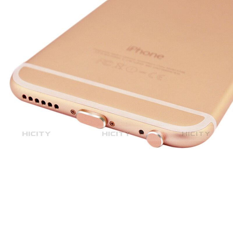 Tappi Antipolvere Anti-dust Lightning USB Jack Antipolvere J01 per Apple iPhone 11 Oro Rosa