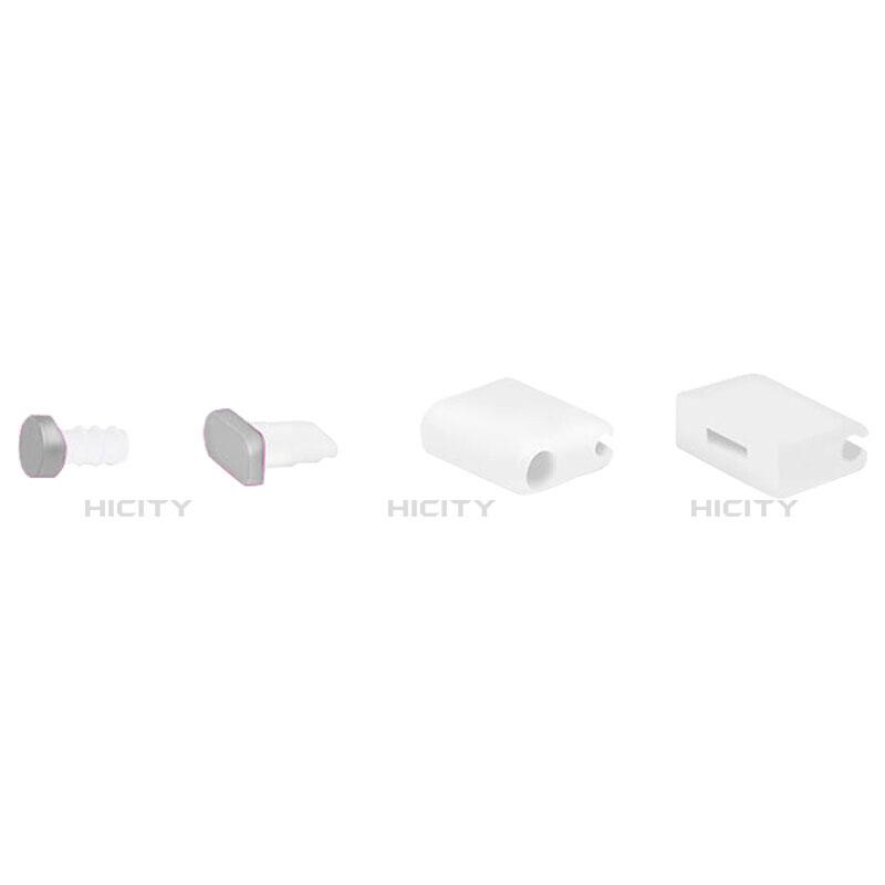 Tappi Antipolvere Anti-dust Lightning USB Jack Antipolvere J02 per Apple iPhone 11 Argento
