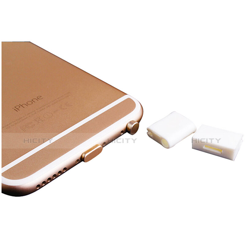 Tappi Antipolvere Anti-dust Lightning USB Jack Antipolvere J02 per Apple iPhone 11 Pro Oro