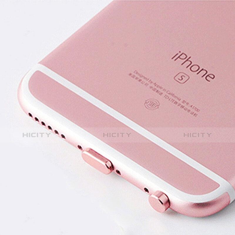 Tappi Antipolvere Anti-dust Lightning USB Jack Antipolvere J02 per Apple iPhone 11 Pro Oro Rosa