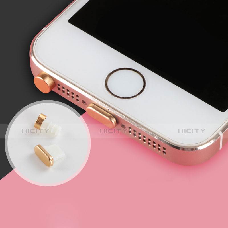 Tappi Antipolvere Anti-dust Lightning USB Jack Antipolvere J05 per Apple iPhone 11 Argento