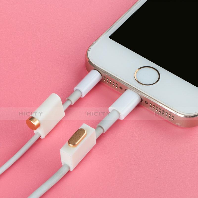 Tappi Antipolvere Anti-dust Lightning USB Jack Antipolvere J05 per Apple iPhone 11 Oro Rosa