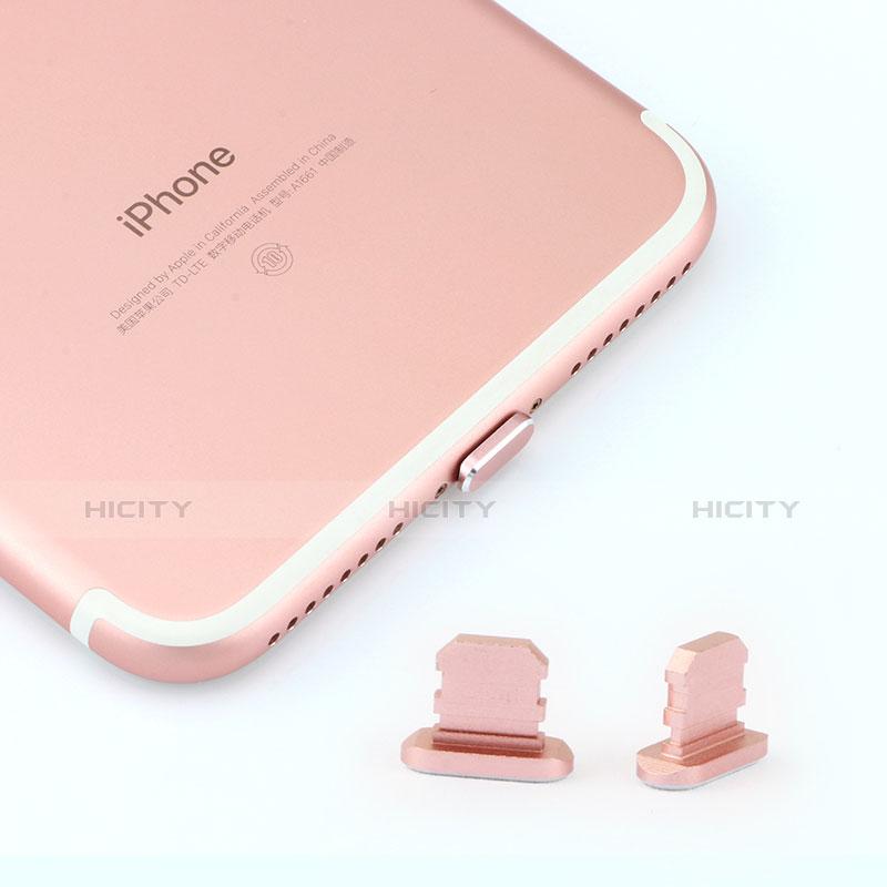 Tappi Antipolvere Anti-dust Lightning USB Jack Antipolvere J06 per Apple iPhone 11 Oro Rosa
