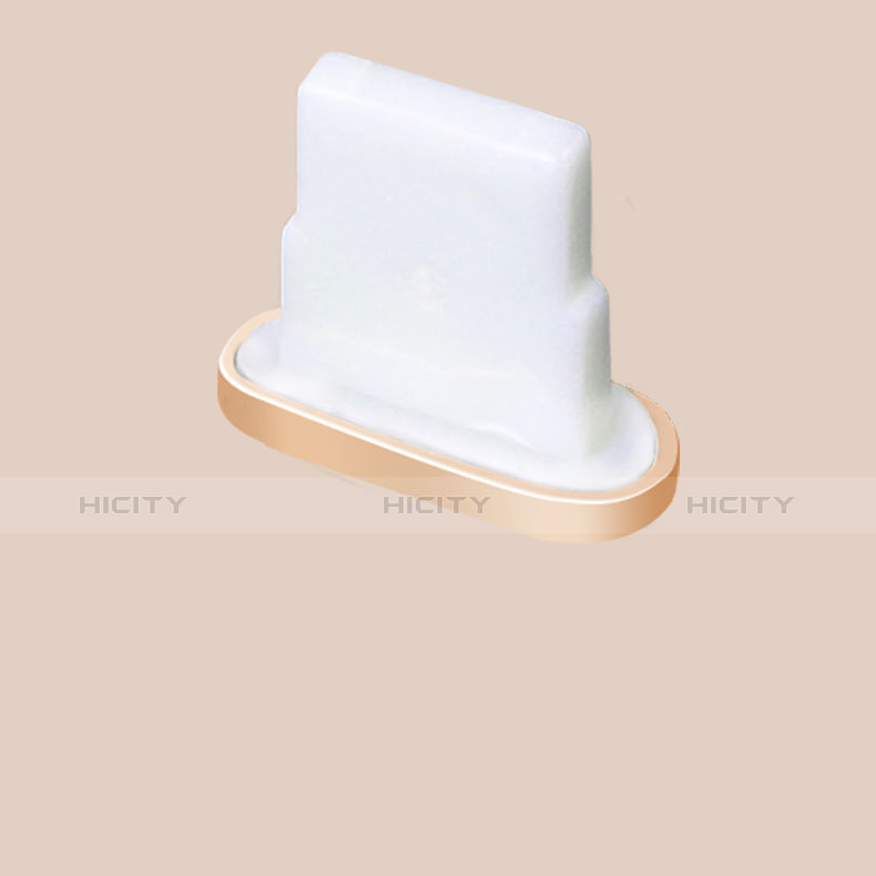 Tappi Antipolvere Anti-dust Lightning USB Jack Antipolvere J07 per Apple iPhone 11 Oro