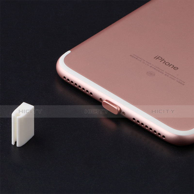 Tappi Antipolvere Anti-dust Lightning USB Jack Antipolvere J07 per Apple iPhone 11 Pro Oro Rosa